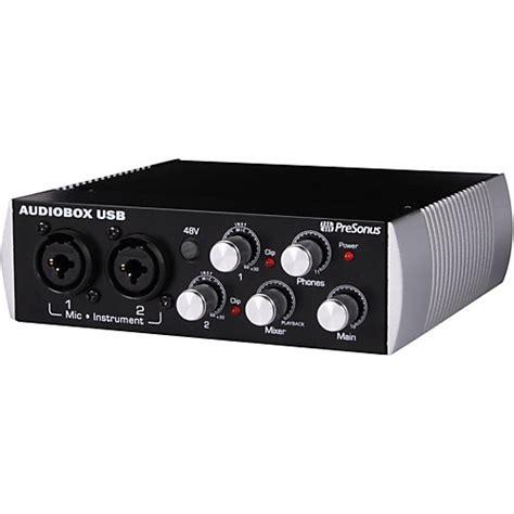 Presonus Audio Box Usb presonus black audiobox 2x2 usb recording system musician s friend