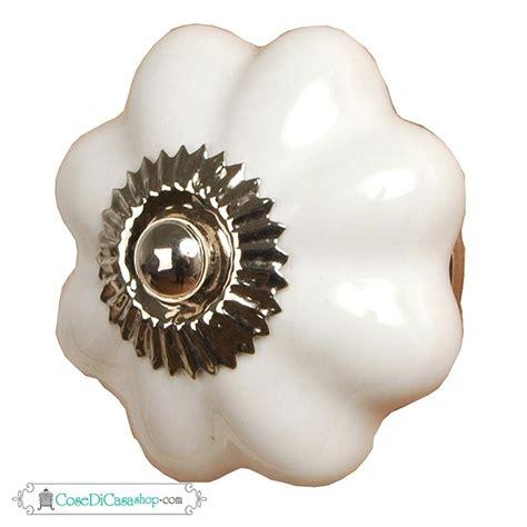pomello ceramica pomello in ceramica quot fiore turchese quot di dimensione