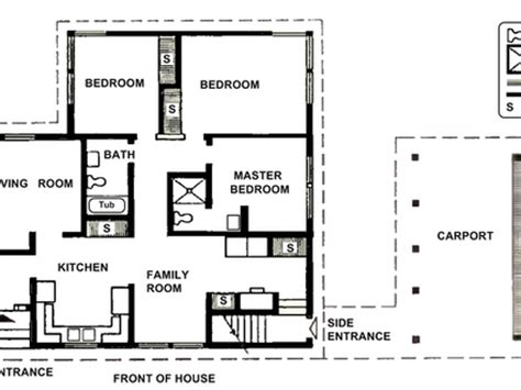 small two bedroom house plans kitchen on the front two