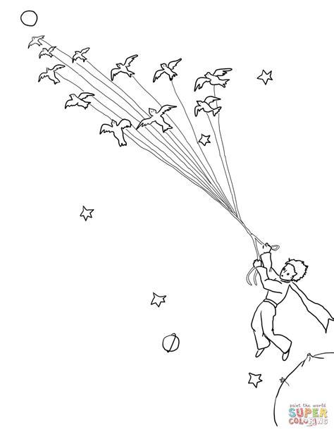 ausmalbild der kleine prinz verl 228 sst seinen planeten mit