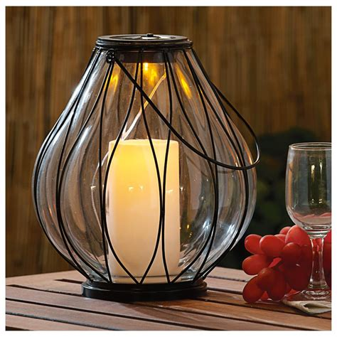 Castlecreek Solar Candle Lantern 581196 Solar Outdoor Outdoor Candle Lights