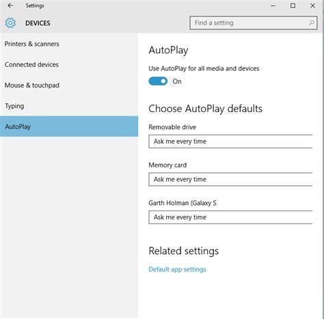 hp windows 10 tutorial turn on or off autoplay in windows 10 windows 10 tutorials
