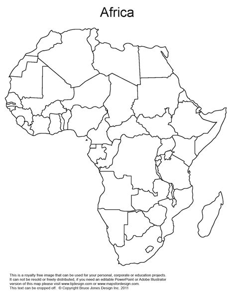 Printable Map Africa Countries | printable map of africa africa world regional blank