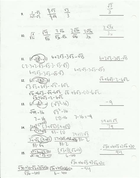 Simplifying Radical Expressions Worksheet by Worksheet Simplifying Radical Expressions Worksheet