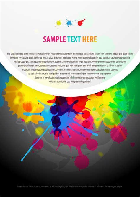 4 designer color paint splatter background 01 vector material