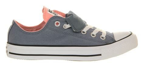 Sepatu Converse All Low Bluepink converse all ox low tongue bluepink in blue for lyst