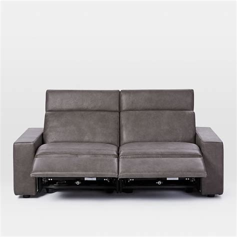 elm reclining sofa enzo leather reclining sofa 76 quot elm