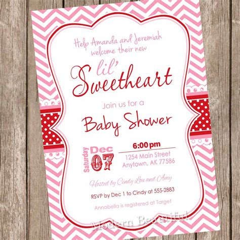 Valentines Baby Shower by Something New Valentine S Day Baby Shower Invitations