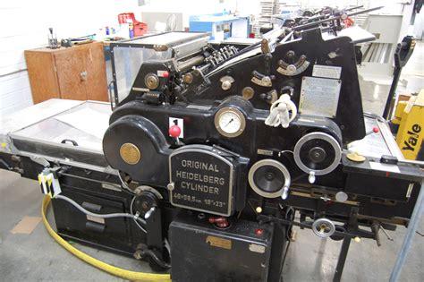 House Plan Shop heidelberg original cylinder press