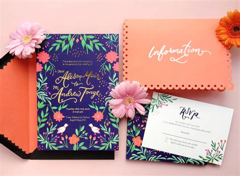 Mexican Themed Wedding Invitations colorful mexican fete inspired wedding invitations