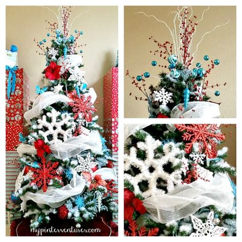 christmas tree decorating tips red turquoise and white