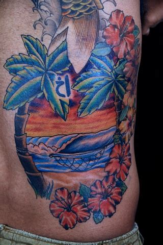 beach scene tattoo tattoos designs ideas and meaning tattoos for you