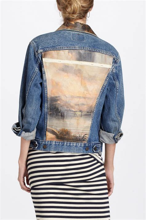diy denim jacket from diy painting jean jacket find an canvas painting at a