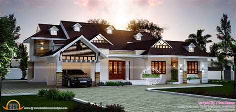 elegant house plans elegant one floor dormer window home kerala home design