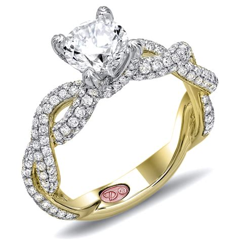 yellow gold engagement ring demarco bridal jewelry