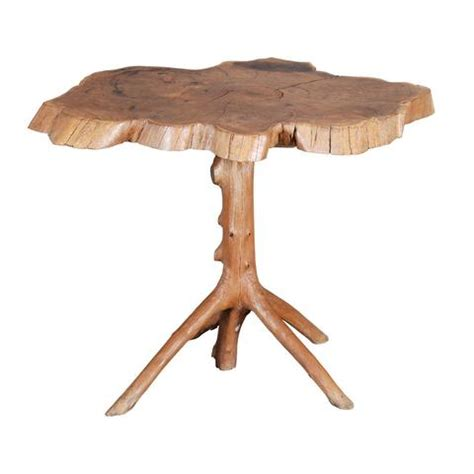 tree section table naturalistic yew wood table jayne thompson antiques inc