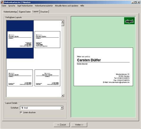 Visitenkarten Erstellen Programm by Software Zum Visitenkarten Erstellen Kostenlos