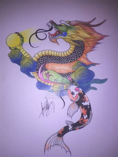 koi fish with dragon tattoo designs koi ideas and koi designs page 26