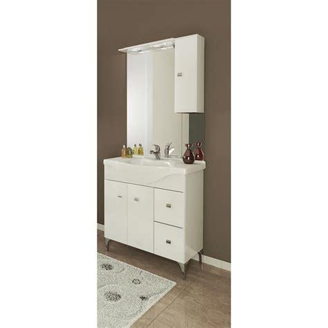 mobile bagno laccato bianco mobile bagno laccato bianco cm 85 con specchio