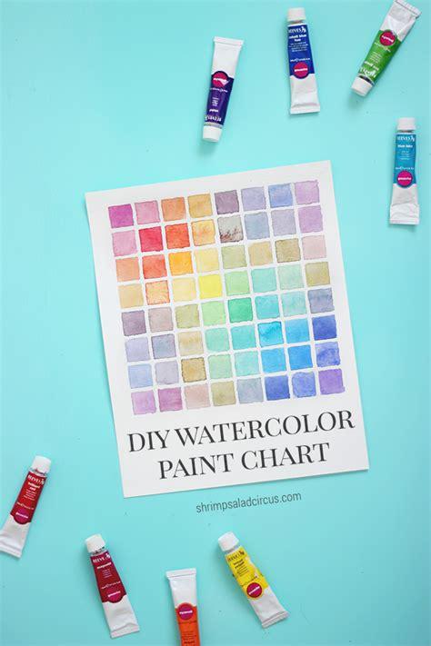 watercolor mixing tutorial diy watercolor paint chart tutorial color mixing paint