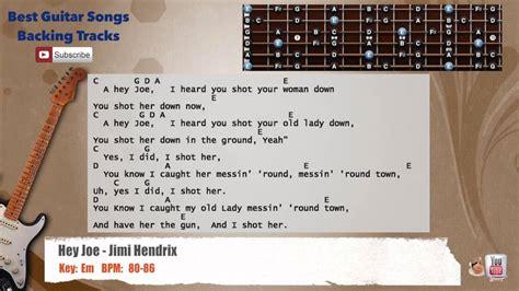 hey joe jimi hendrix guitar backing track  scale
