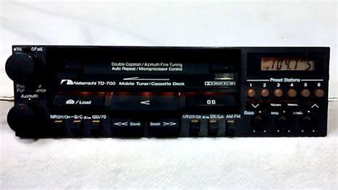 cassette car stereo vintage nakamichi td 700 am fm cassette car stereo