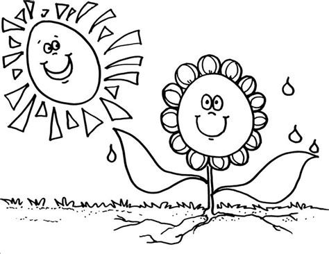 Spring Coloring Pages Coloringpagesabc Com Springtime Coloring Pages