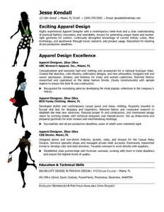 Fashion Resume Objective Exles by Free Apparel Designer Resume Exle
