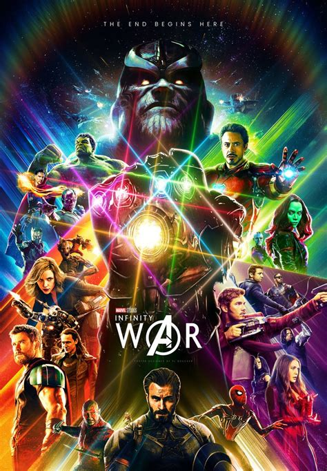 incredible fan made infinity war poster marvelstudios