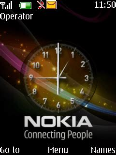 clock themes wap in download animated clock theme nokia theme mobile toones