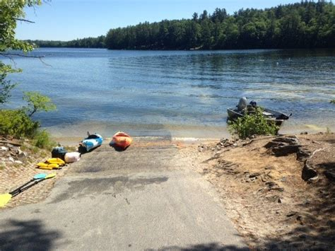 maine boat launches smallmouth bass fishing on crescent lake in raymond maine