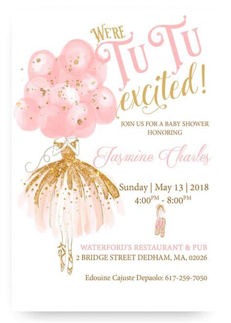 Pink Ballerina Baby Shower by Tutu Pink Ballerina Baby Shower Pink Tutu Invites