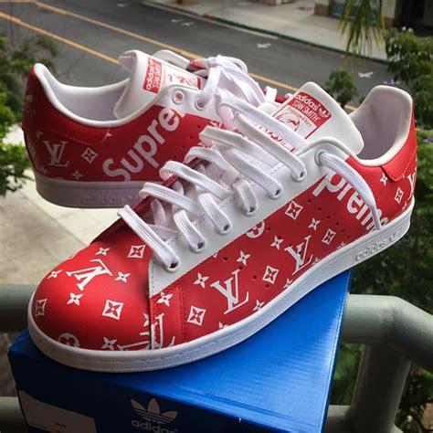 adidas stan smith supreme custom adidas stan smith supreme x lv monogram print