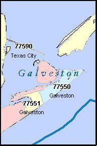 galveston texas zip code map galveston county texas digital zip code map