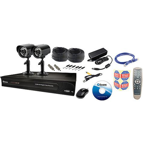 swann home security in a box black cameras camcorders