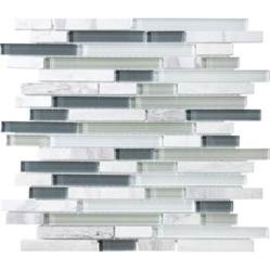 shop allen roth venatino linear mosaic stone and glass