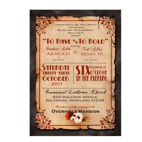 Wedding Announcement Poster by The 32 Best Images About Theater Themed Wedding Things On