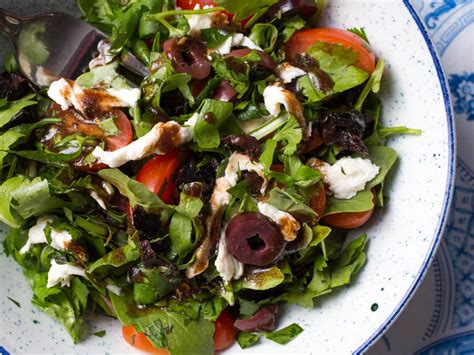 Sho Olive Herbal mixed herbs salad with olives tomatoes and fresh
