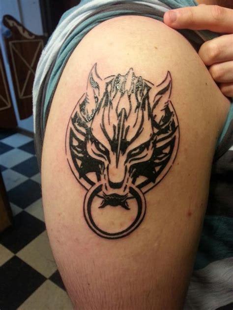 fenrir tattoo black outline fenrir on left shoulder for