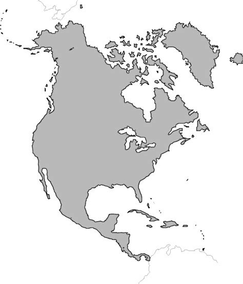 blank map of america with borders america continent clipart clipart suggest