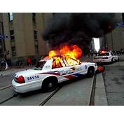 G20 Toronto Protest Report Police Car Vandalized Set On