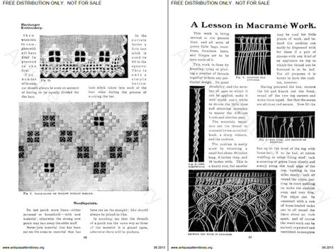 Antique Pattern Library Hardanger | pin antique pattern library on pinterest