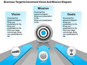 project vision template business target achievement vision and mission diagram