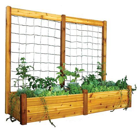 Trellis Bed raised garden bed trellis kit