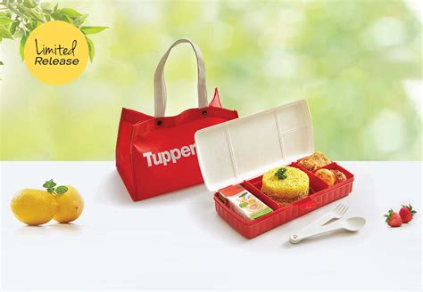 lunch keeper set with bag tupperware katalog promo