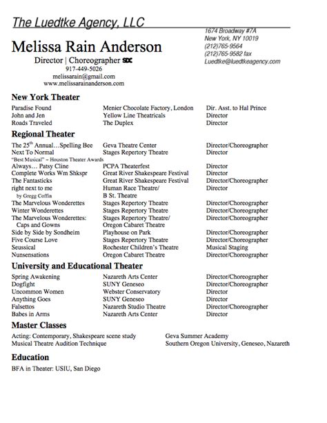 Theatre Director Resume Resume Ideas Theatre Director Resume Template