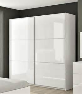 armoire hcommehome 2 portes blanc brillant