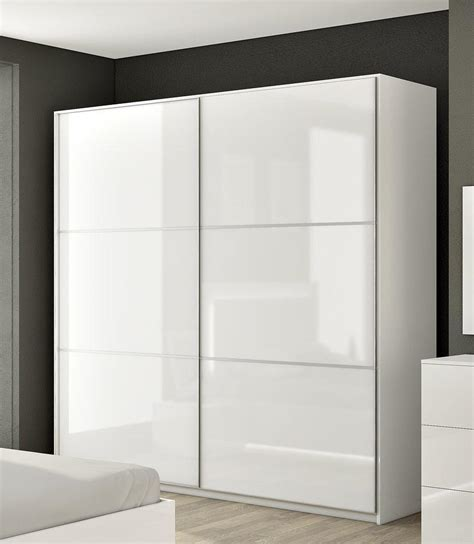 armoire designs armoire adulte hcommehome aurore 2 portes blanc brillant acheter moins cher