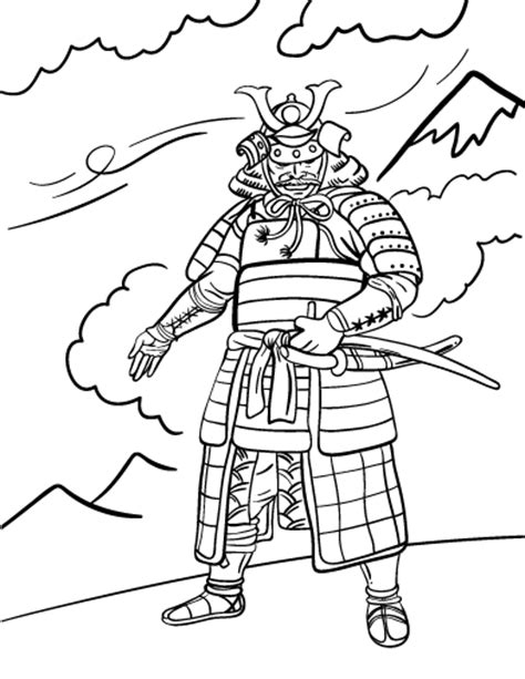 Detailed Coloring Page Samurai Coloring Pages Samurai Coloring Pages