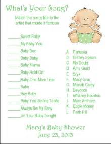 baby shower songs 24 personalized what s your song baby shower search